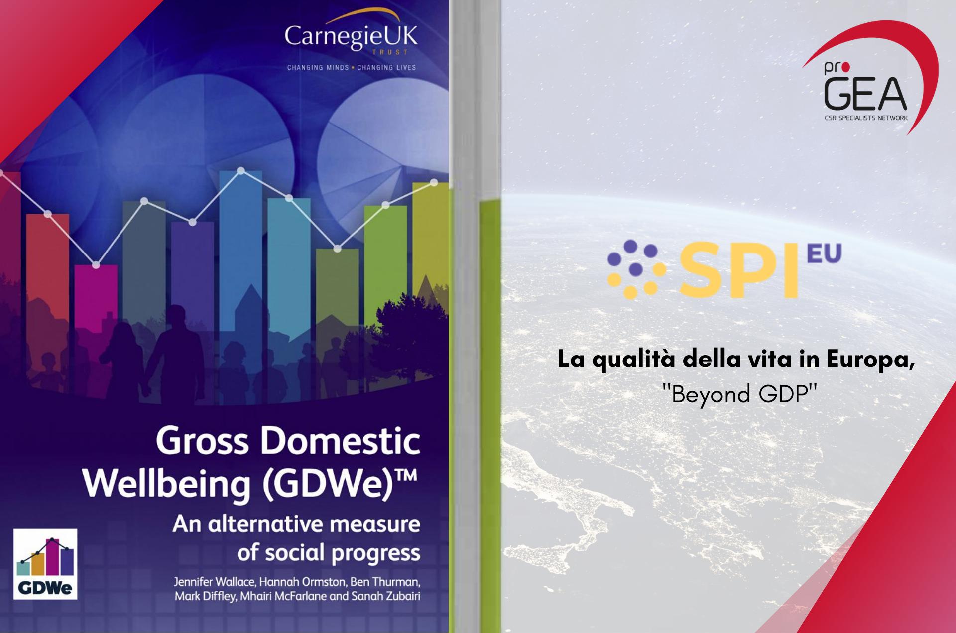 """La qualità della vita in Europa, """"Beyond GDP"""""""