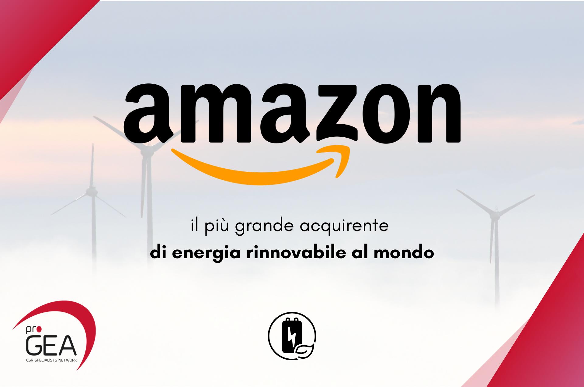 Amazon, il più grande acquirente energia rinnovabile al mondo