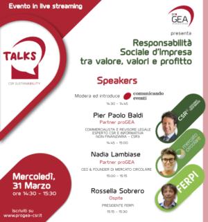proGEA TALKS – CSR Sustainability