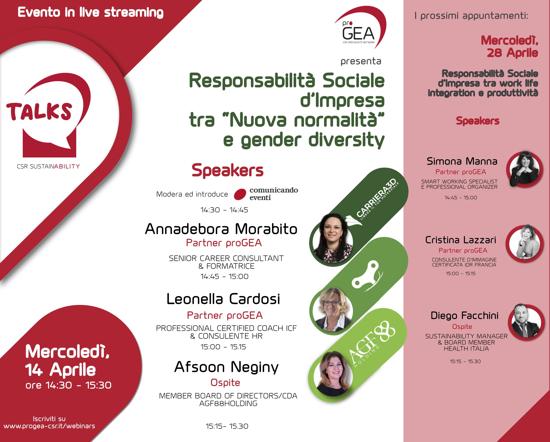 """Responsabilità Sociale d'Impresa tra """"Nuova normalità"""" e gender diversity"""